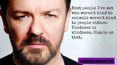 RT if you agree with this quote by @rickygervais. I do, the Police do. Animal Abuse and Violence Are Linked!!