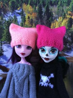 Monster High Pussyhat Project Pussyhat Protest hat | Etsy Monster High Doll Clothes, Monster High Dolls, Barbie Knitting Patterns, Pink Hat, Barbie Clothes, Hand Knitting, Etsy Handmade, Handmade Items, Breien