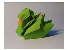 Origami Water Bird Duck - Mallard Tutorial (Barth Dunkan) 折り紙 アヒル оригами учебник птица утка - YouTube