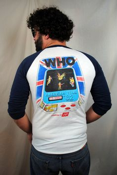 Vintage 1982 The Who Tour Concert Tee Raglan Tshirt by RogueRetro
