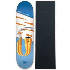 Habitat Skateboard Deck Wenning Coexist Reissue 8.0″ With Pro Grip: Wenning Coexist Reissue Includes a sheet of Black Diamond Griptape