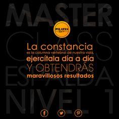 """""""La Constancia es la columna vertebral de nuestra vida, ejercítala día a día y obtendrás maravillosos resultados""""  #PilatesRiazor #Espalda"""