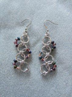 Bubble Chain Mail Earrings | JustForYouJewelleryCreations - Jewelry on ArtFire