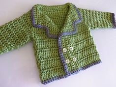 Looks pretty simple.  free pattern. 3squeezes: Easy Crochet Baby Sweater