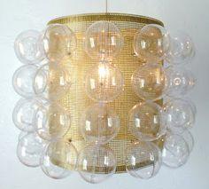 DIY drum shade bubble light