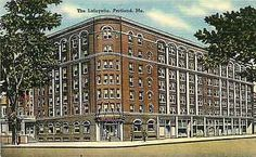 Portland Maine 1930s Lafayette Hotel Collectible Antique Vintage Linen ...