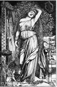 The Athenaeum - Danae in the Brazen Chamber (Anthony Frederick Sandys - )
