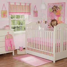 Or this...  Baby Boom - Bubble Gum Jungle 10pc Nursery in a Bag Crib Bedding Set - Value Bundle