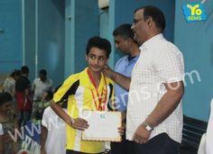 Congratulations Harshvardhan Bhati for recieving runner-up award and scoring 21-11, 21-12, in Boys Singles U13 YoGems Badminton Championship series,Noida