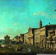@dawnbradleyein Bernardo Bellotto View of Via di Ripetta in Rome #art