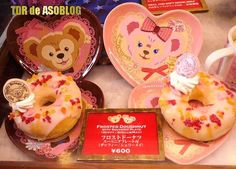 From Disney Sea. Duffy and Sherrie May plates that you can take home after you eat the doughnut.