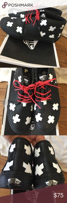 """Vans """"Made Me"""" exclusive release Have only seen two other pairs out there. Size 7 women, fits a 7.5 too. Perfect condition. No original box Vans Shoes Sneakers"""