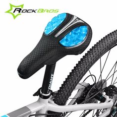 ROCKBROS Bicycle Liquid Silicone Front Saddle Cover Mountain MTB Road Bike Soft Comfortable Cushion Saddle Seat Bicycle Parts