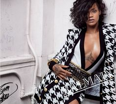 Rihanna Photoshoot by Inez & Vinoodh - Balmain Spring-Summer 2014