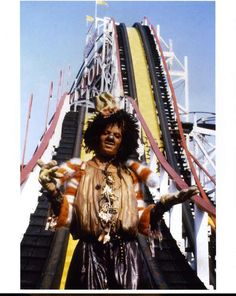 Michael Jackson by the roller coaster in The Wiz(1978)
