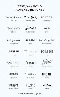 I've put together a list of my favorite, boho and adventure styled fonts that are 100% fo' free. Whether it's a dreamy script or edgy block lettering...