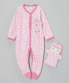 Take a look at this Pink Princess Footie & Puppet - Infant by Duck Duck Goose on #zulily today!