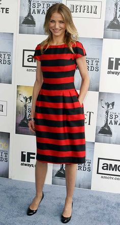 love the cut, the width and color of the stripes. i'd wear to work for sure!