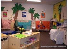 Here's a peek into my classroom when I taught Pre-K It was setup for 24 students in a full day pre-kindergarten program. I had a full time aide, but there were nights where. Classroom Layout, Classroom Decor Themes, Classroom Setting, Classroom Design, Future Classroom, Classroom Organization, Classroom Ideas, Classroom Displays, Classroom Resources