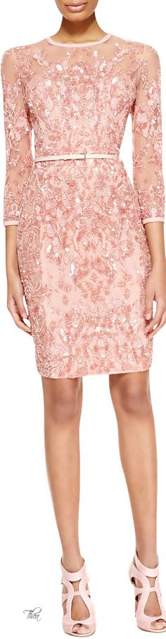 Elie Saab ● Pink Beaded Embellished Dress