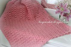 Lacy Crochet: Manta Fácil Bloques del bebé, mi patrón libre