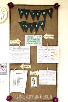 Parent board #daycarerooms
