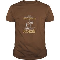 A Trucker Rides a Horse Tshirt, Order HERE ==> https://www.sunfrog.com/Names/A-Trucker-Rides-a-Horse-Tshirt-Guys-Brown.html?47756 #christmasgifts #xmasgifts #horselovers #horseriding