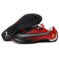 Puma Ferrari Shoes Men Black White Red Puma Sports Shoes 223afa3ea