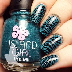 Island Girl polish and some random doodles. @sparrownails