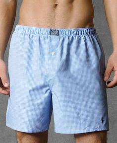 Polo Ralph Lauren Men's Underwear, Woven Boxer - Underwear - Men - Macy's