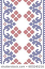 Embroidered cross-stitch pattern Ukrainian national Cross Stitch Boarders, Cross Stitch Letters, Cross Stitch Bird, Cross Stitch Flowers, Cross Stitching, Cross Stitch Embroidery, Disney Cross Stitch Patterns, Cross Stitch Designs, Blackwork Patterns