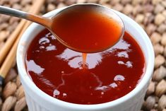 Sweet and Sour Sauce chinese asian sweet sour sauce recipe best easy fast quick pineapple juice takeout restaurant Recipe Sweet And Sour Sauce, Plum Sauce Recipe Chinese, Chinese White Sauce, Sour Recipe, Recipe Recipe, Sauce Chinoise, Sauce Recipes, Cooking Recipes, Fast Recipes
