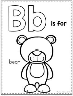Free Letter B Alphabet Cards For Display or Coloring