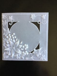AMiss Jilly crreation from a Pergamano pattern. Embroidery Flowers Pattern, Machine Embroidery Designs, Ribbon Embroidery, Vellum Crafts, Parchment Design, Parchment Cards, Butterfly Template, Create And Craft, Card Patterns