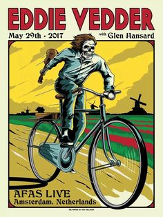 Eddie Vedder Amsterdam poster by Ian Williams