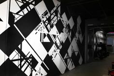 razzle dazzle met industrial feel - Wallpainting with   Freshco   - Amsterdam, 2012