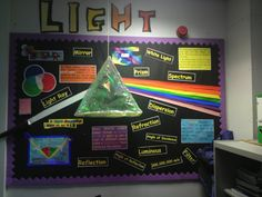 This is a great bulletin board that displays student learning about light.