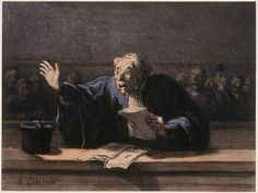 Honoré Daumier, Un Avocat Plaidant (The Pleading Lawyer) on ArtStack #honore-daumier #art