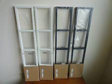 4 New IKEA Lerberg Media Shelves CD DVD Storage Racks Wall Mount Dk Grey  White