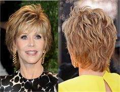 See photos of famous women age 70 and older and their fabulous haircuts and learn beauty tips on what haircuts and color work on women of your age.: Beauty at Age 70 & Over: Jane Fonda