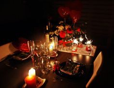 1000 images about montaje mesas romanticas y otros on - Cena romantica san valentin en casa ...