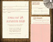 Vintage Library Card Wedding Invitation DIY Set (printable)