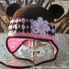 Ravelry: Bear Hat, Baby Booties and Baby Mittens Set pattern by Alena Byers
