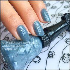 Anna Sui Nail Color S008 Celadon Gray. Tonnes of swatches at imabeautygeek.com
