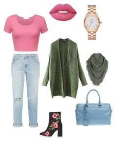 """""""Aeroplane Attire"""" by chookie1603 on Polyvore featuring Yves Saint Laurent, Current/Elliott, Kate Spade, Topshop, Lime Crime and White + Warren"""