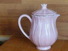 vintage  french pink coffee pot Café au Lait  shabby chic