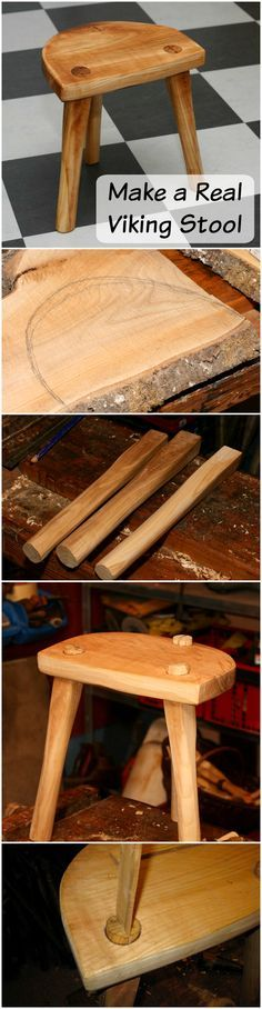 Make a real Viking Stool | This Viking stool is, in some places, refereed to as the Lund Stool because one particularly intact seat was found in Lund.
