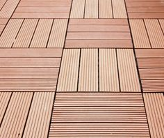 Seven Trust WPC DIY Decking made from wood fibers and plastic resins offer a durable floor that has a natural wood Ipe Decking, Composite Decking, Outdoor Decking, Plastic Wood Decking, Outdoor Deck Decorating, Deck Tile, Into The Woods, Diy Deck, Deck Railings