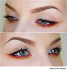 Red eye makeup. #Eye Makeup  http://eye-makeup-151.lemoncoin.org