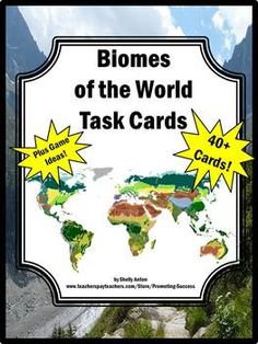 Science Biomes Task Cards Activities